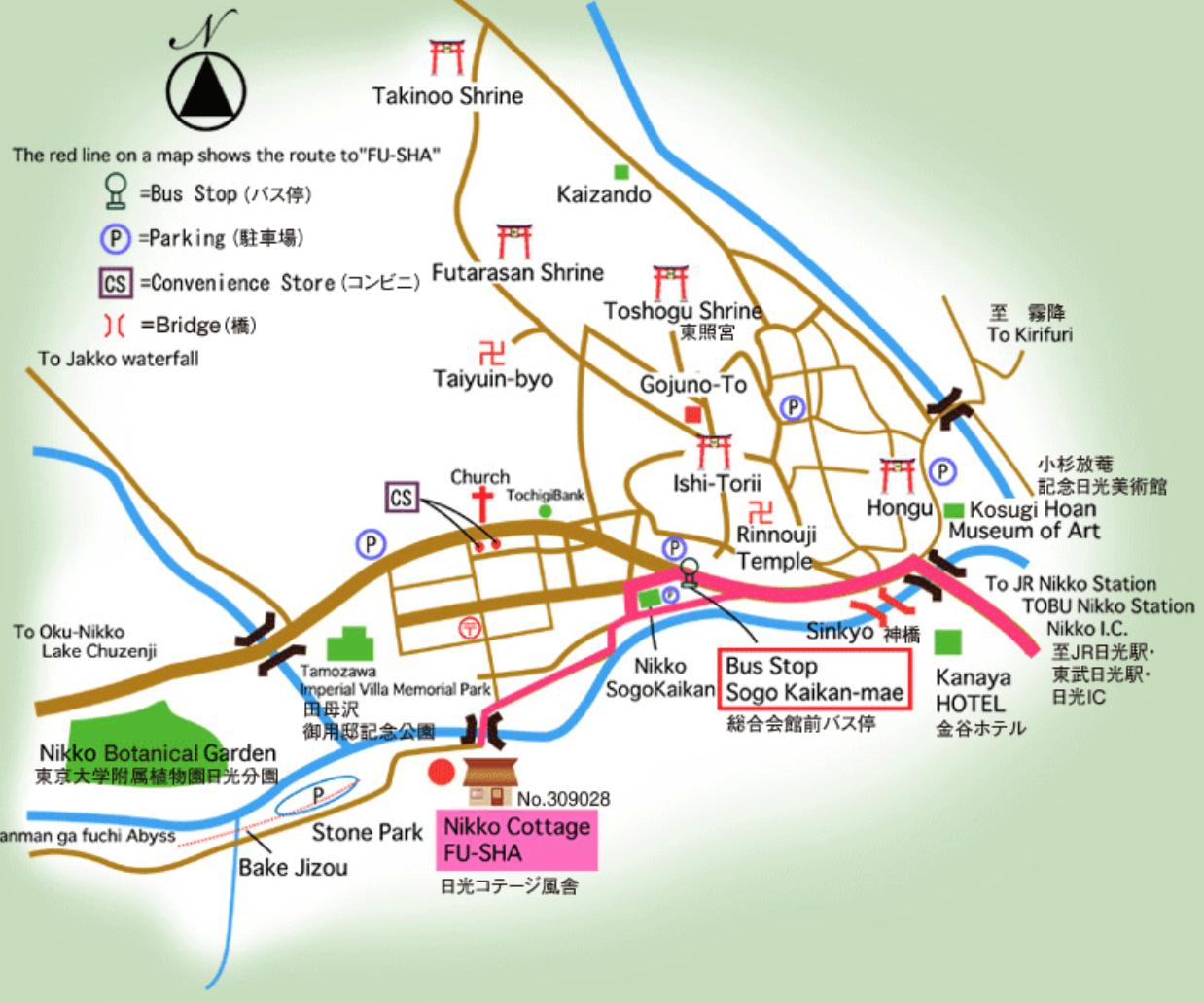 Plan de Nikko
